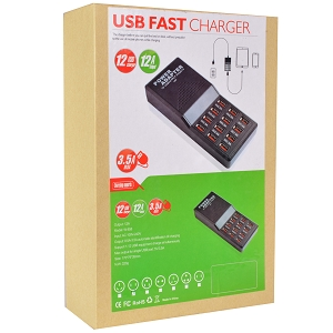 12 Port 12 Amp Fast Charge