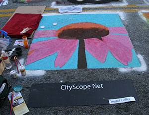 Cone Flower at Houston Via Colori Street Painting Festival
