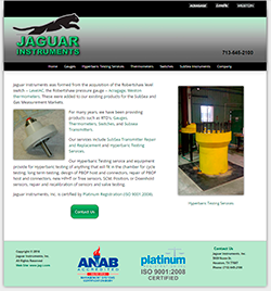Jaguar Instruments Inc Mobile Web Site